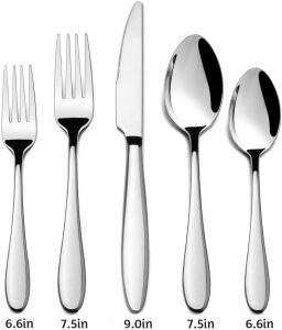 HaWare Stainless Steel Modern Flatware Cutlery Set