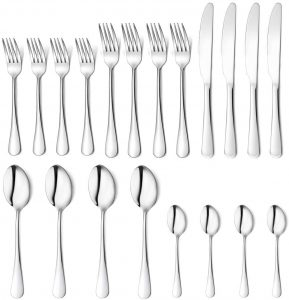 Homogo 20-piece Silverware Cutlery Set with Serving Pieces