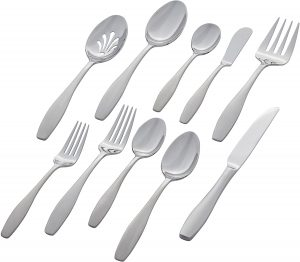 Stone & Beam Traditional Stainless Steel Flatware Set Silverware